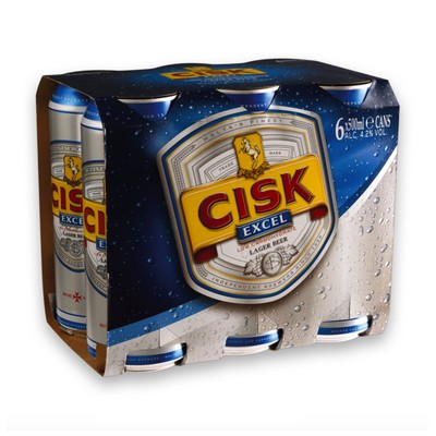 CISK EXCEL CANS 6 X 500ML