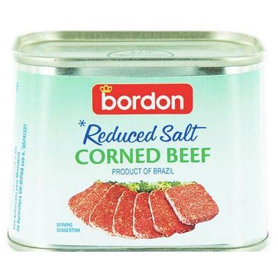 BORDON REDUCED SALT CORNED BEEF 198G