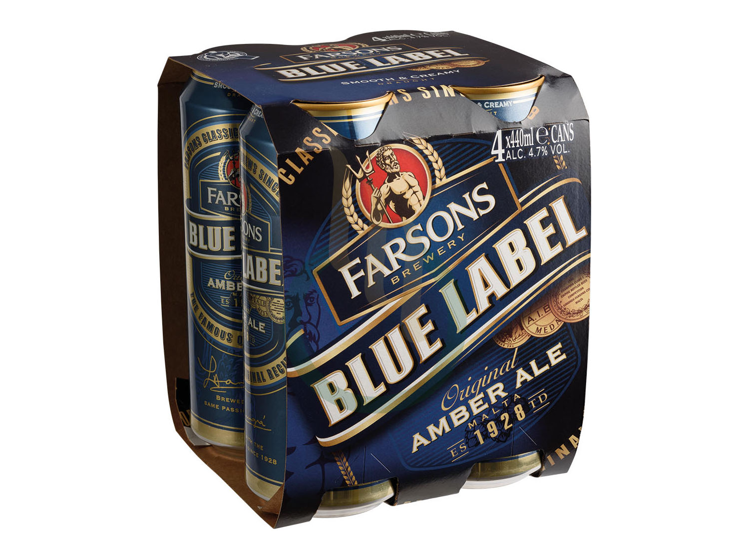 BLUE LABEL CAN X4
