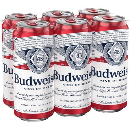 BUDWEISER CAN 500 ML X 6