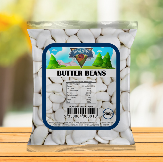 Skunju Packed Butter Beans