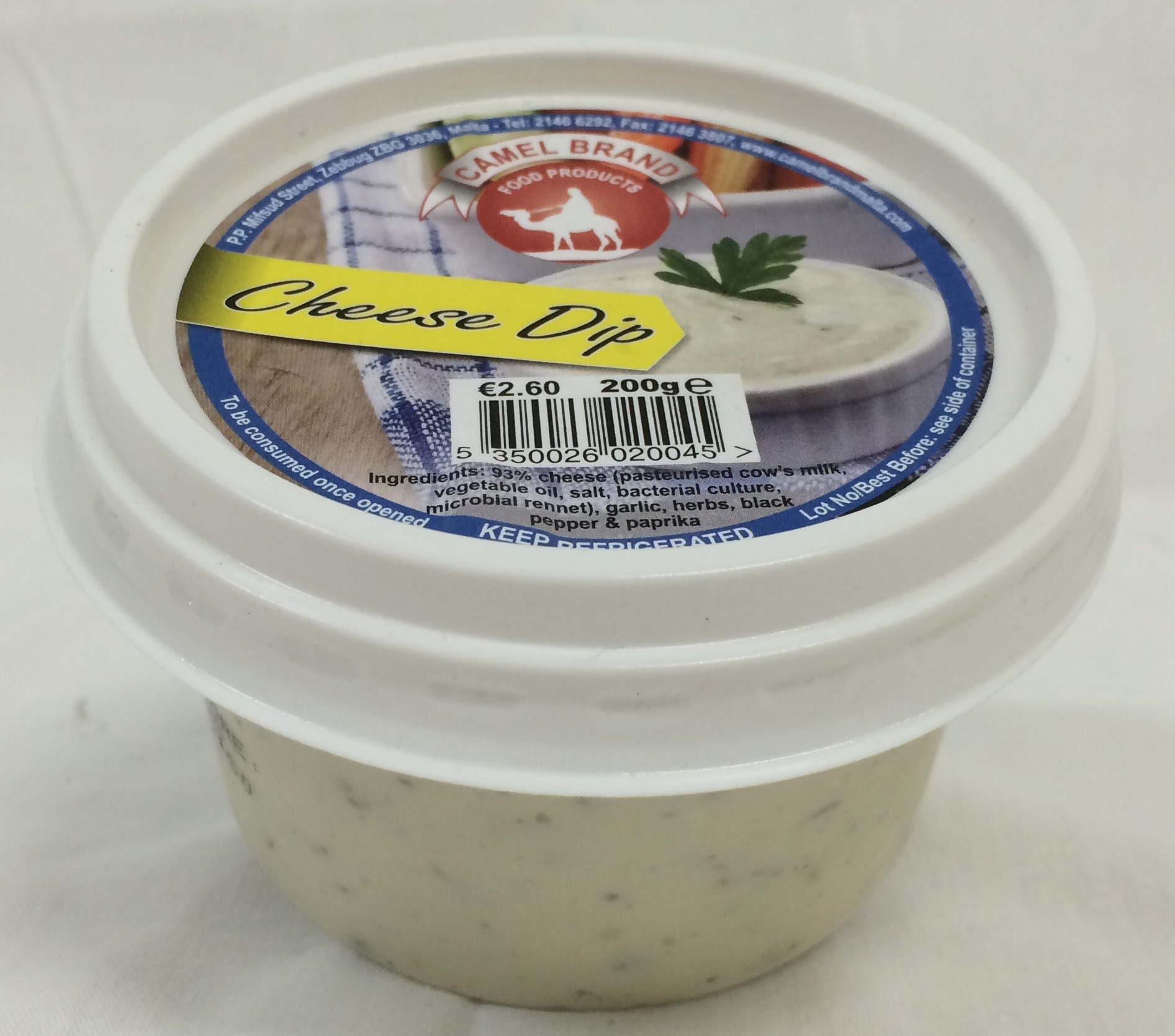 Camel Brand Cheese Dip