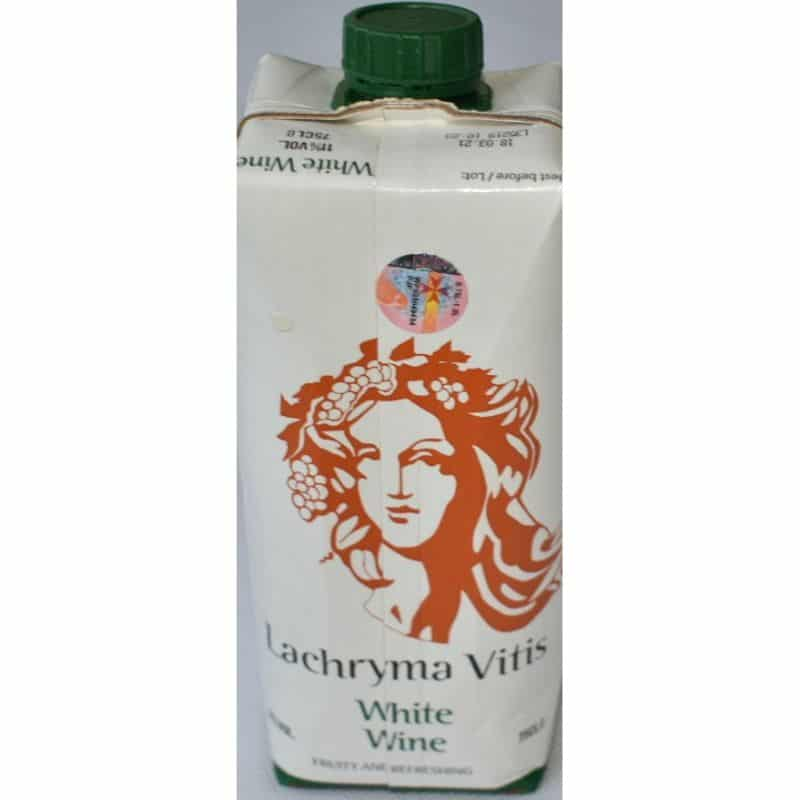 LACHRYMA VITIS WHITE WINE PKT 75CL