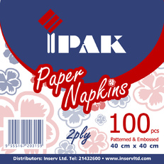 IPAK PAPER NAPKINS X 100