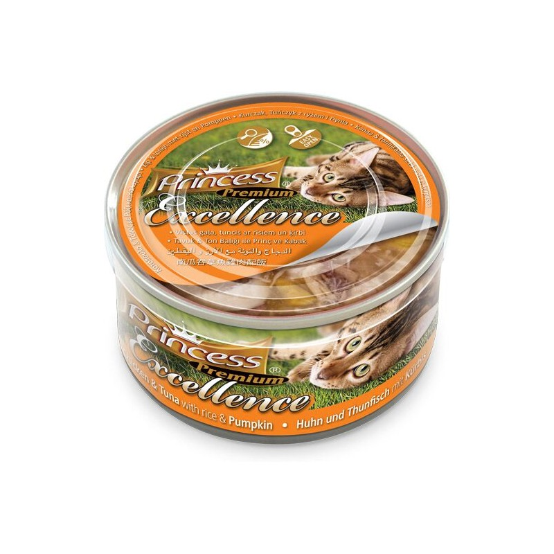 Princess Premium Excellence Chicken & Tuna With Rice & Pumpkin