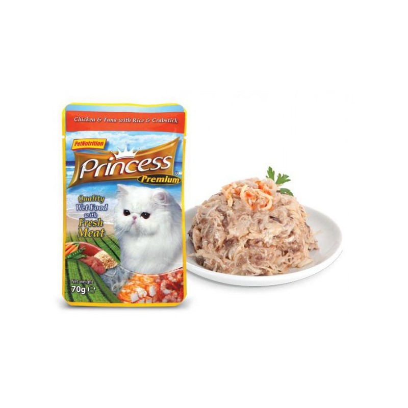 Princess Classic Chicken & Tuna With Rice And Crabstick
