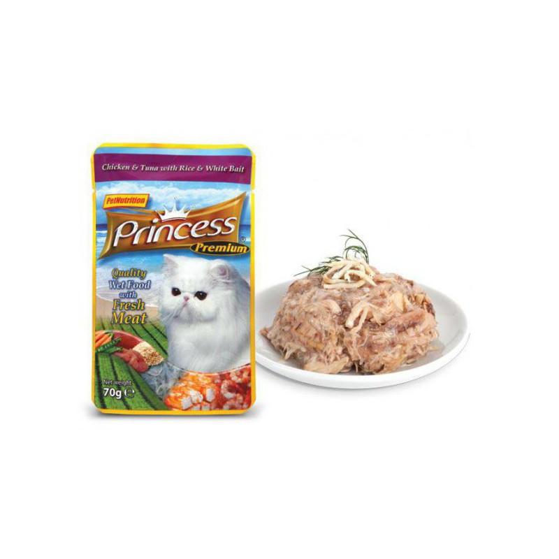 Princess Classic  Chicken & Tuna With White Rice & White Bait