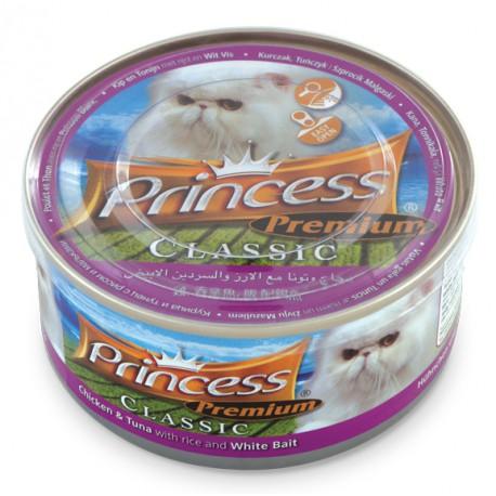 Princess Premium Classic Chicken & tuna With Rice& White Bait