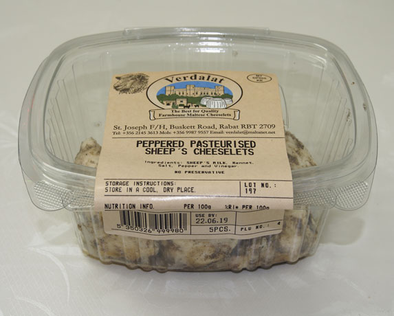 Verdalat Peppered Pasteurised Sheep Cheeselets by 2