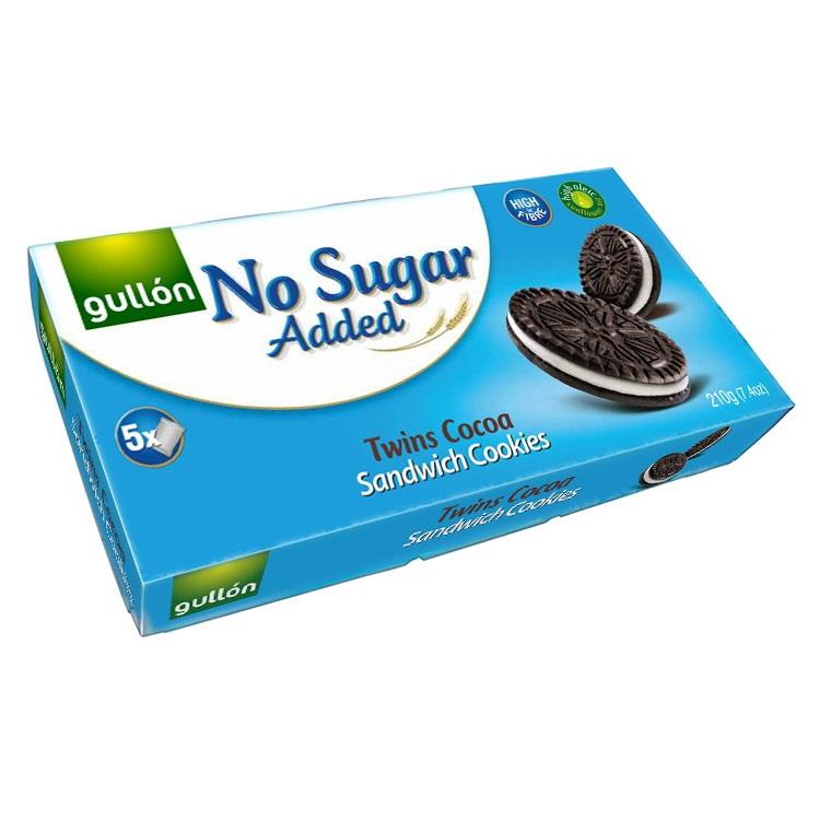 Gullon Sugar Free Twins Cocoa Sandwich Cookies
