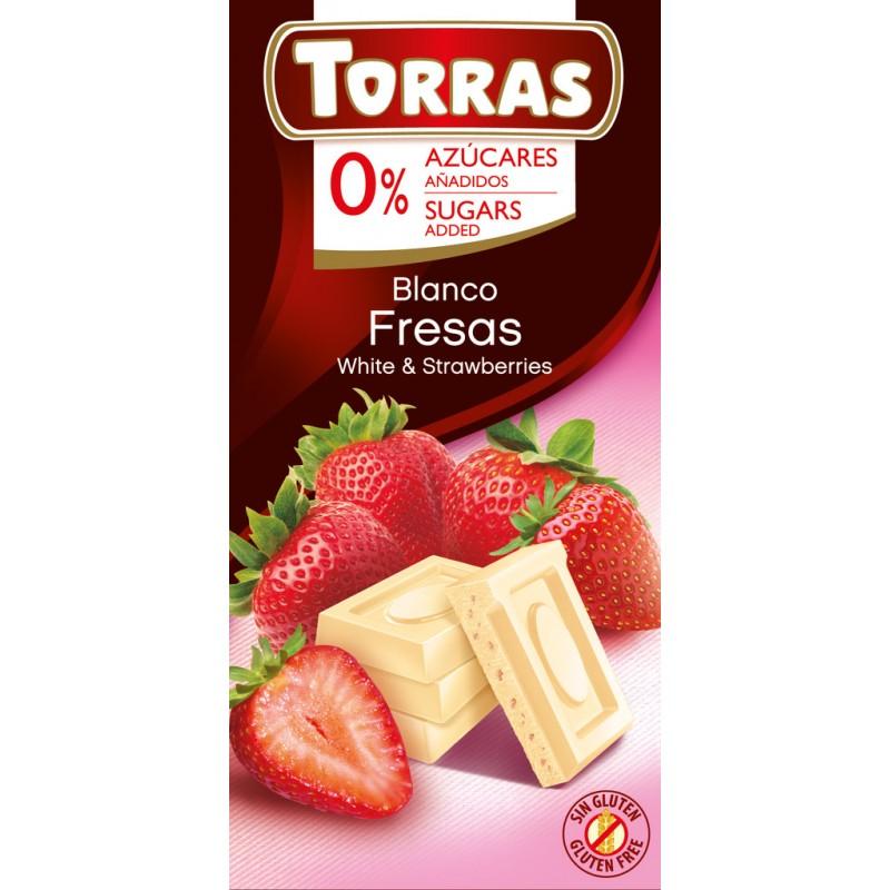 Torras White & Strawberry Chocolate