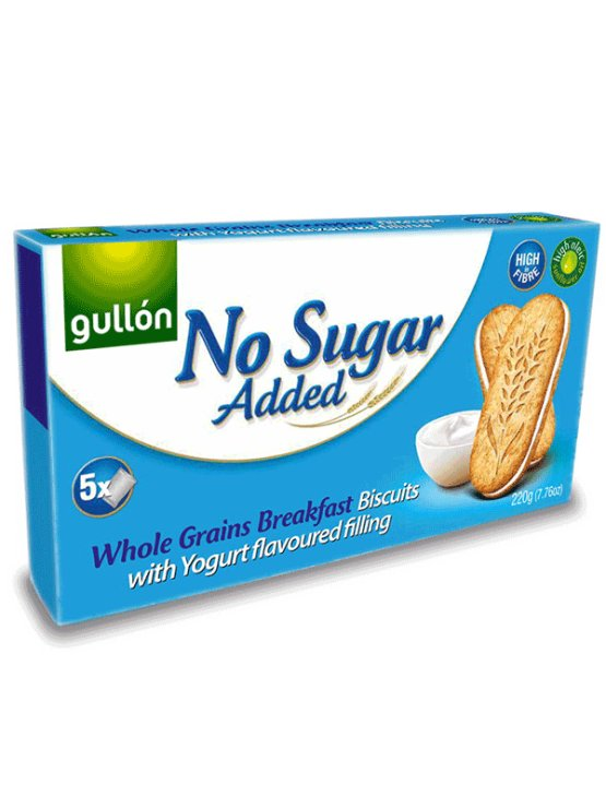 Gullon Sugar Free Whole Grains Breakfast Biscuits With Yogourt Filling