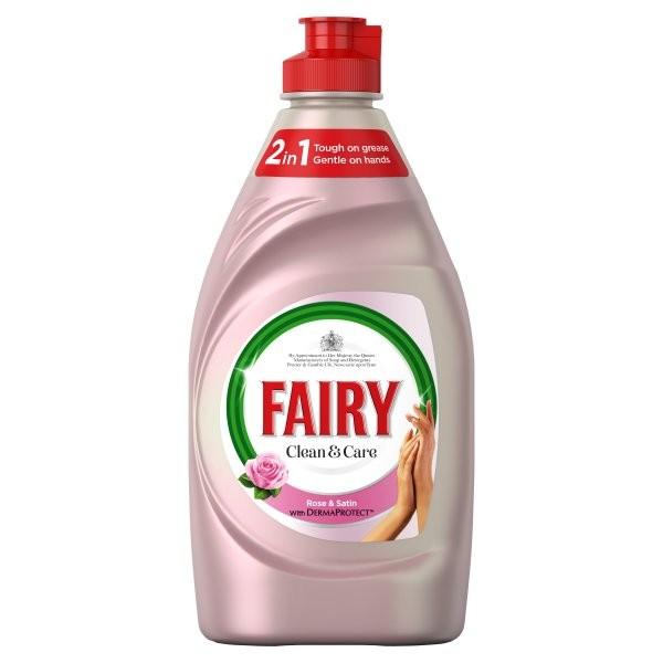 Fairy Clean & Care Rose & Satin 383ml