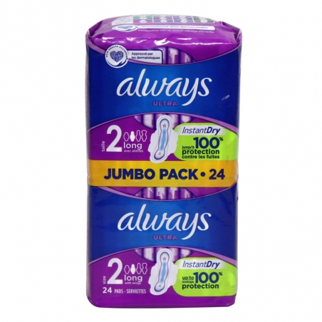 Always Ultra Size 2 Long  big pack – 24