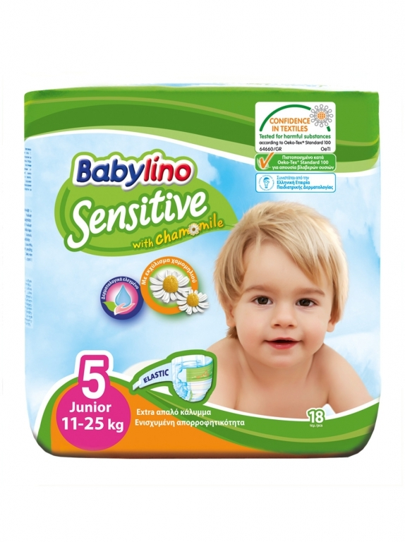 Babylino Baby Diapers by 18 Size 5