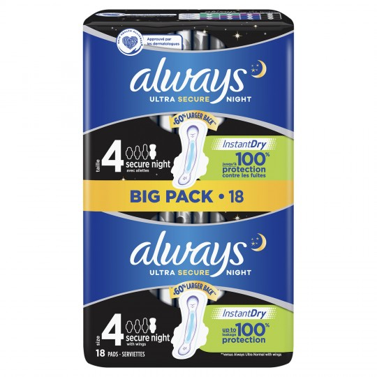 Always ultra  4 Secure Night Big Pack -18