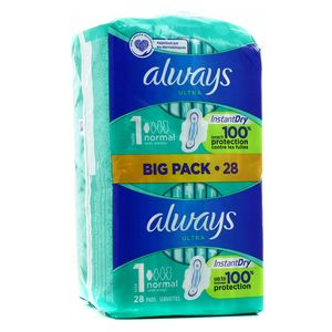 Always Ultra Size 1 Normal  big pack – 28