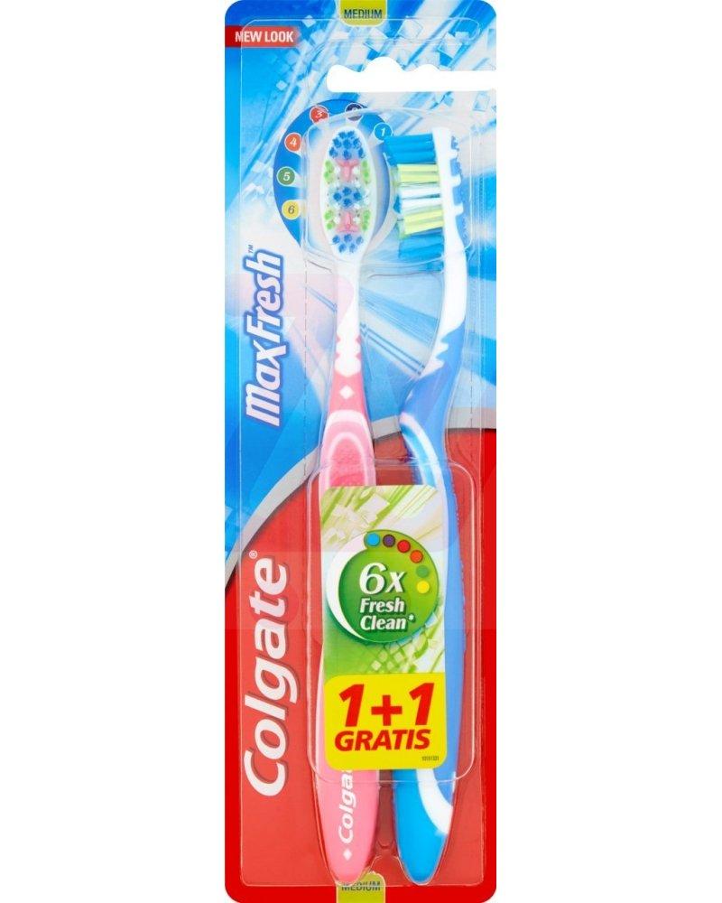 Colgate Max Fresh  Tooth Brush Medium 1+1