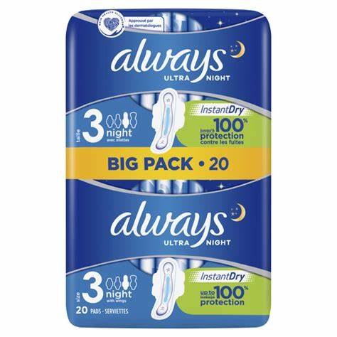 Always Ultra Size 3 Night  big pack – 20