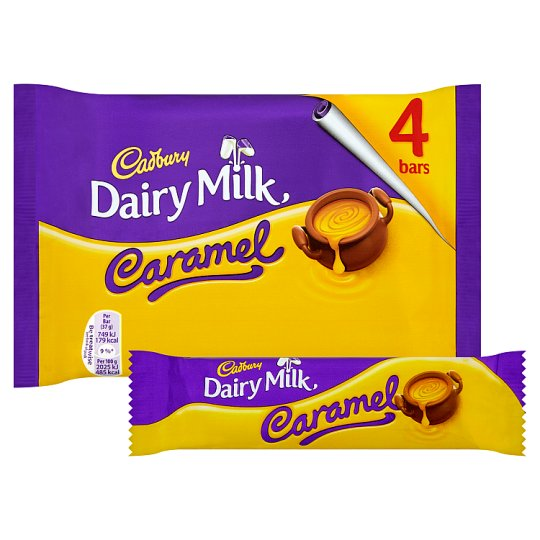 Cadbury Dairy Milk Caramel pack by 4